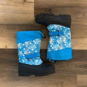L.L Bean | Kids Snow/ Winter Boots Snowflake print